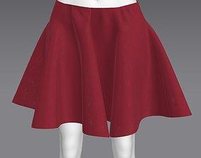 3D asset Woman Cloth skirt