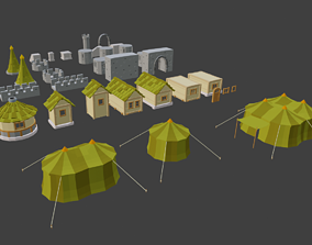 middle ages polygon 3D model