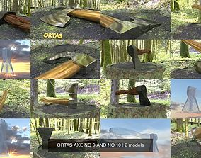 ORTAS AXE NO 9 AND NO 10 3D model