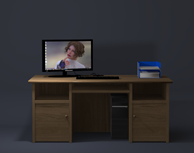 Desk and PC 3D model