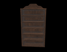 room Bookcase 3D model low-poly