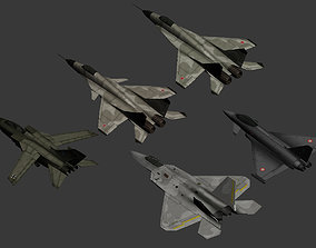 Lowpoly Military Aircrafts 3D model
