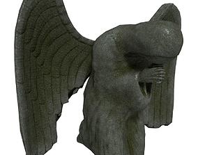 Angel Statue 3D model realtime