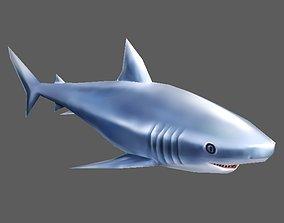 3D model rigged Shark fish