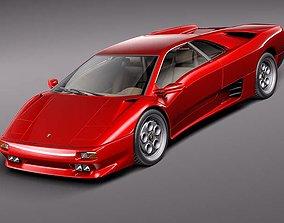 3D model Lamborghini Diablo 1994