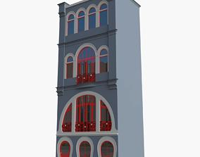3D Art nouveau house