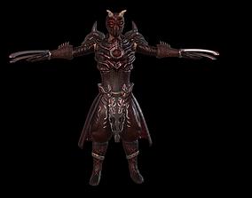 rigged Dragon barbarian AAA 3D model
