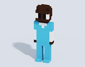 Voxel Human T7 3D model
