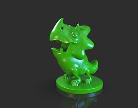 Stylized Triceratops Baby 3D print model