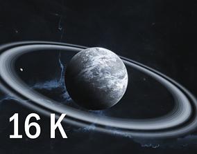 white 16K Photorealistic Snowy Planet 3D model