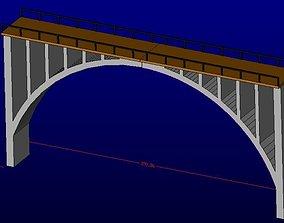 3D print model H0 bridge