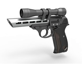 Moff Gideon Blaster pistol from The Mandalorian TV 3D