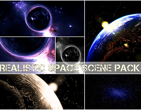 Blender scene space pack 3D