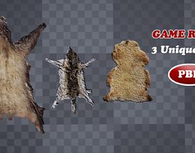 3D asset Low Poly Animal Pelts