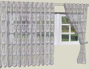 3D model Crochet lace curtains