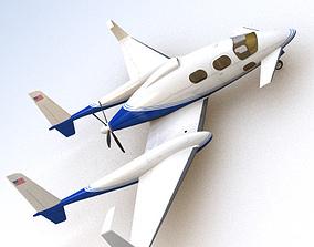 SciFi Future General Aviation 3D