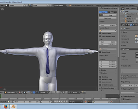 3D model Inspire Business shirt and tie