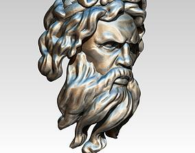 Zeus Man Ring Head Face Bust 3D print model