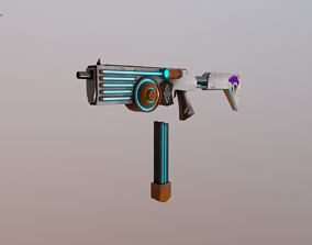 Sci-fi SMG 3D model
