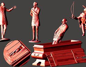 4 x NOSFERATU toy soldiers MURNAU MAX 3D print model 1