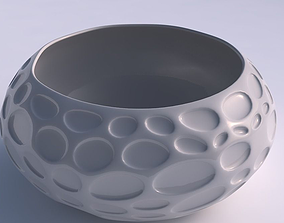 3D printable model Bowl spheric squeezed wide with bubbles