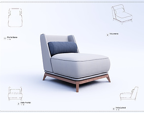 Armchair Revit High Quality 3D models