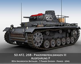3D model PzBefWg III - Ausf F - 7 PzDiv