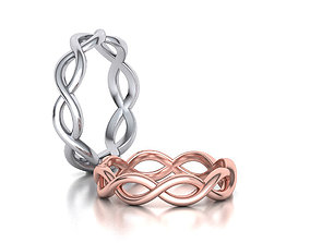 Dainty Braided Ring Infinity band 3dmodel