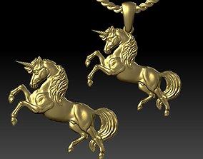 pendant unicorn 3D print model