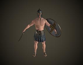 Character 3D asset game-ready wariror