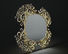 3D model houseware Mirror barocco