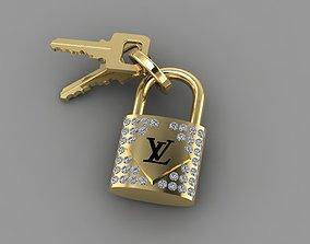 3D print model Pendant Louis Vuitton Lock