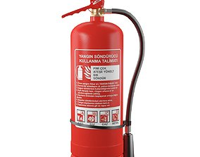 3D model site-component Fire extinguisher