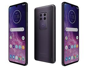 3D model Motorola One Zoom Cosmic Purple