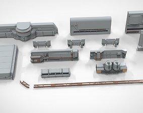 3D sci-fi Architecture kitbash 22