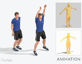 Jumping Jacks Exercise Man Animation 3D model