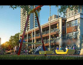 Children amusement park 22 3D model