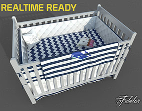 Cot bed 3D asset realtime