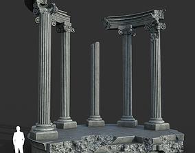 3D model Low poly Ancient Roman Ruin Construction 05 - 1