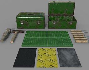 3D model Game Ready Carpenter Tools D180305