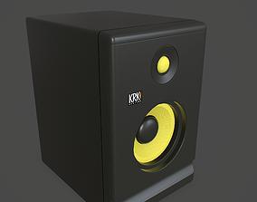Powered Studio Monitor 3D model