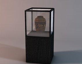Display case with vase 3D asset