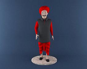 Indian Farmer 3D Printable Model