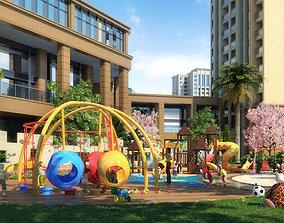 3D Children amusement park 04