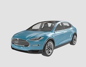 3D model Tesla X Prototype 2012 tesla