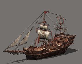 3D asset Sailing Vessel