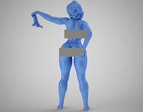 Woman Waving a Handkerchief 3D print model