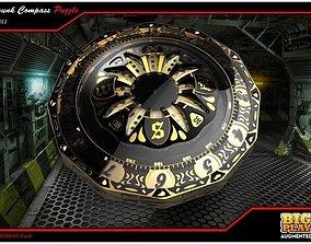 Steampunk Compass 3D model