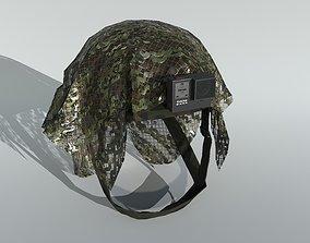 3D asset Tactical Helmet with Net