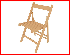 Folding chair 3D asset